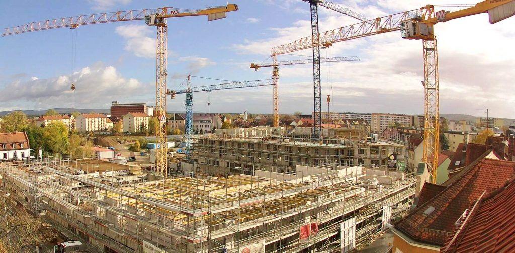 Aufnahme Baustellenkamera vom Logistikzentrum in Köln