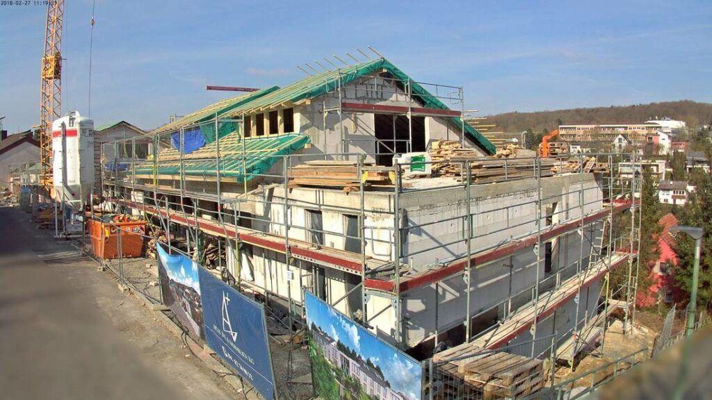 Baubegleitung Mehrfamilienhaus mit Baustellenkameras