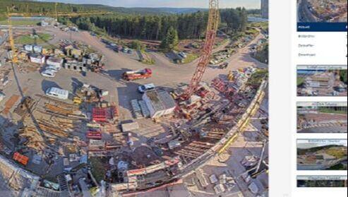 Baustelle aus mehreren Perspektiven