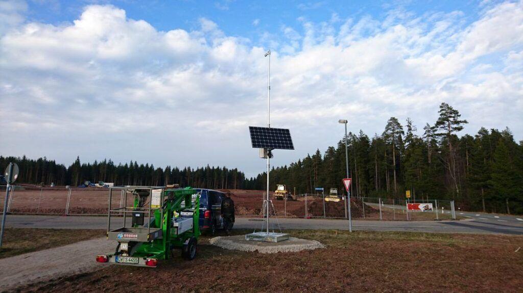 Mobiles Mastsystem für Baustellen-Webcams
