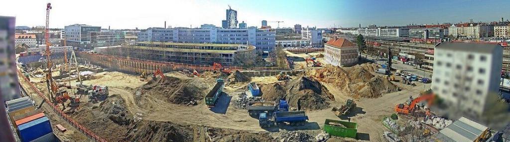 Panorama-Aufnahme von einer Großbaustelle - DSGVO konform
