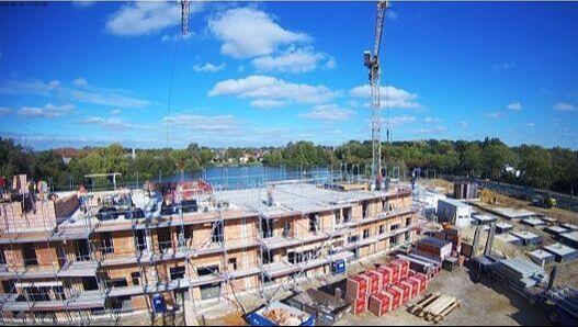 Wohnungsbau Zeitraffer DSGVO konform Baustellenkamera