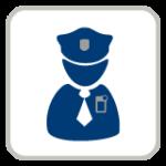 Polizist -Piktogramm