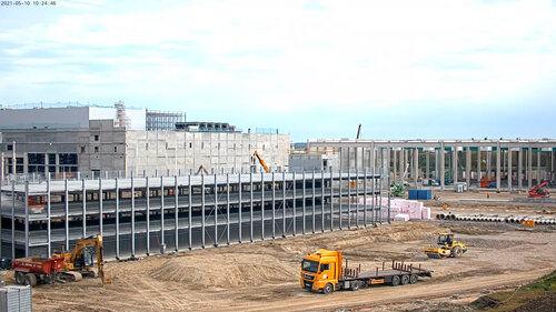 Gewerbebau aufgenommen durch Baustellen-Webcam